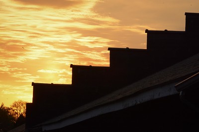 Dawn over the stables