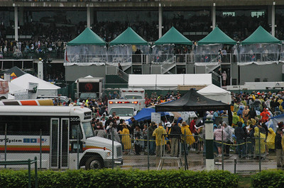 Infield ambulances constantly on the move