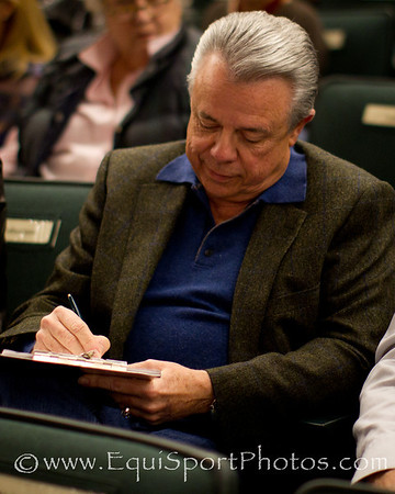 Mr. Leon, for Besilu Stables, signs ticket for Royal Delta at Keeneland 11.08.2011