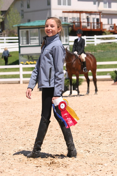 Just happy to be at the horse show!