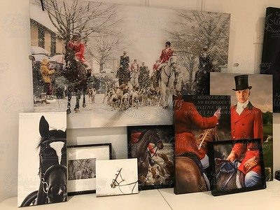Christmas in Middleburg -30x50 Acrylic $850.00 Black Duck-20x10 Canvas $ Kildare - 7x5(111/2 x 141/2)  framed print $ Grey - 8x10 Canvas-$ Spencer-16x13 Canvas with Frame $ Ross 24x16 Canvas $ JohnColes Canvas Framed16x13 $ George 30x20 Canvas $