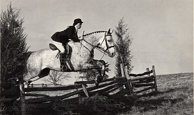 1972 Kay Thomas riding Night Cap, whip for Middleburg Hunt. (remember all those hunter trials)