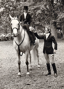 Ready and Chevron, Upperville, 1973  (Photo by Allen)