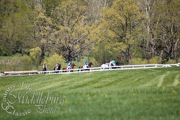 Amateur Novice Rider Hurdle, The Middleburg Hunt Cup 2 1/8 miles. Circling for the start of the race.