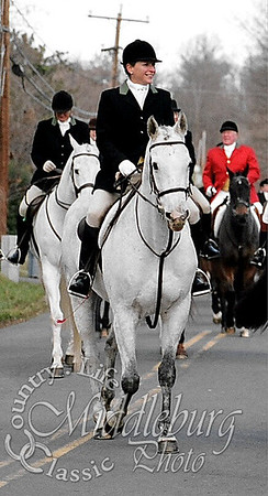 Joan riding with the Middleburg Hunt