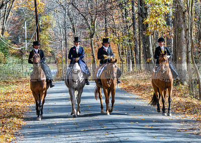 Side Saddle Riders at a special side saddle meet with the Potomac Hunt.