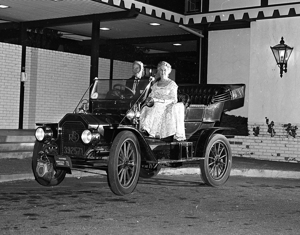 . Horseless Carriage Club of America members leave the Eureka Inn as they get ready to convoy to Williams Grove. (Times-Standard file photo)