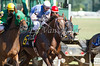 Prom Theme with Megan Fadlovich at the start of the 6th race at Belterra Park. 07.04.2014