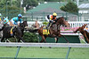Eventual winner, Banned with Jose Lezcano up pass the stands for the first time in The Jefferson Cup (grIII) at Churchill Downs. 06.18.2011