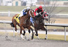 Timeless Fashion with James Lopez up wins The Tejano Run Stakes at Turfway Park. 03.13.2010