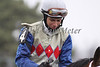 An emotional James Lopez after winning The Tejano Run Stakes on Timeless Fashion at Turfway Park. 03.13.2010