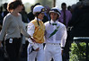 Amanda Tamburello and Leandro Goncalves in the Keeneland paddock. 10.11.2012