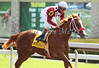 Brotherhood Singer with Jon Court up runs second in the 3rd race at Keeneland Race Course. 10.06.2012