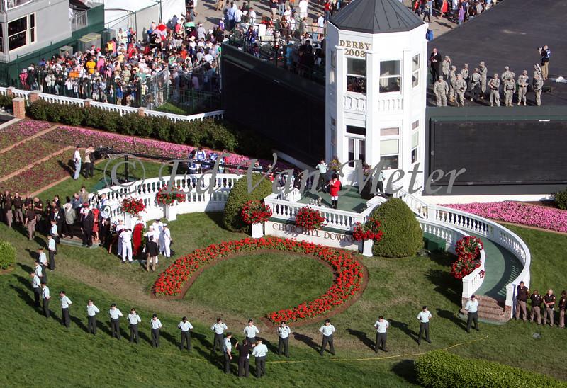 Bugler Steve Buttleman sounds call to the post for The 134 Kentucky Derby, Churchill Downs. Louisville, KY 5.3.2008
