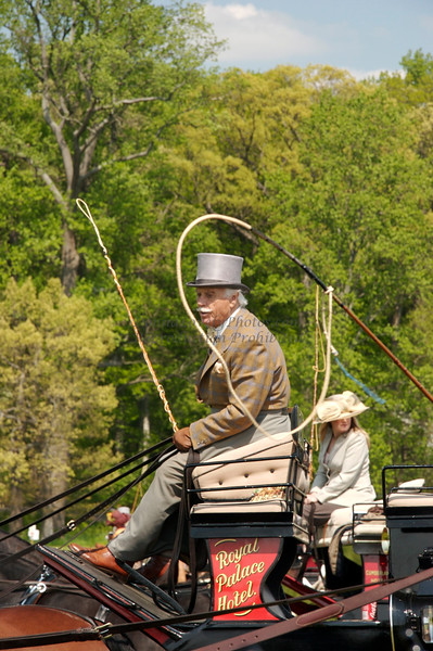 Winterthur Point to Point Royal Palace Hotel Carriage Driver, Face Framed by Whip