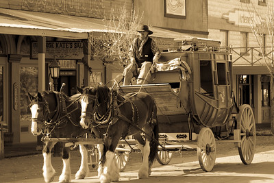 Tombstone Stagecoach Sepia