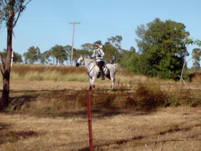 Going out on second leg of 80km ride at Brymaroo in 2009. Rider: James Christensen.