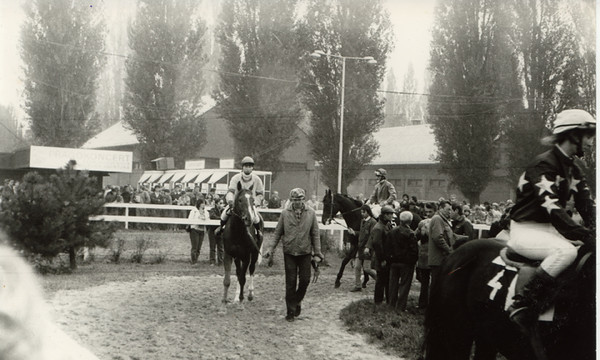 In the Paddock. Prague, Velka Chuchle Race Track, circa 1985.