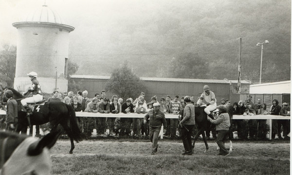 In the Paddock. Prague, Velka Chuchle Race Track, circa 1985.