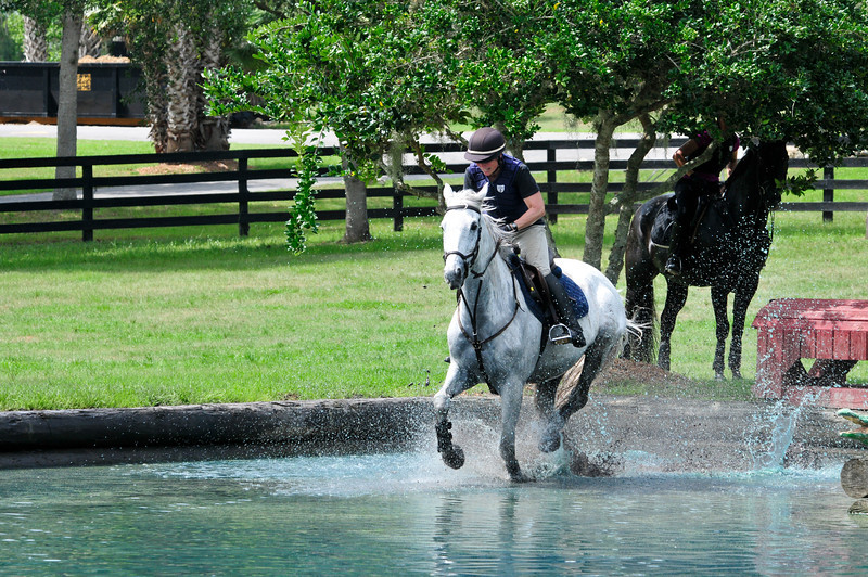 Longwood, 2013. Shaggy Mane and I schooling crosscountry with Lucinda Green.