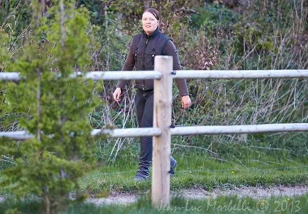Katja Horse Jumping lesson
