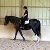 Me riding Cinder, Becky's horse.