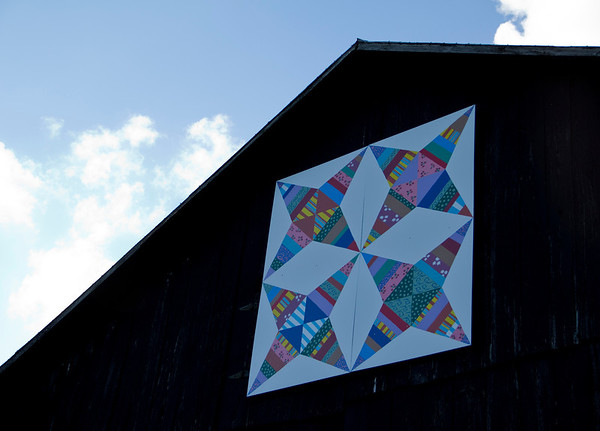 Quilt on the side of one of the barns!