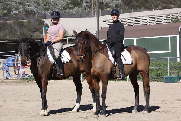 Maryanne and Lauren Dressage Test