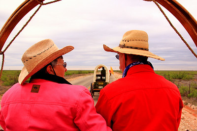 The Woolums. The first morning of the cattle drive, I rode with them in the back of their wagon.