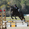 Mariana and Travis stadium jumping in Open Novice