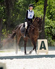 Mariana and Travis entering the dressage ring.