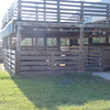 side View of observation dek and 3 Stall home to Cocoa, Turbo, Dakoda