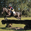 "Travis practices over ""fake Trakehner"" jump"