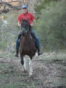 Twylha shows off her nice little saddle rack.
