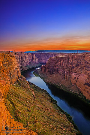 """""""Last One Left,"""" Glen Canyon and the Colorado River at Sunset, Page, Arizona"""