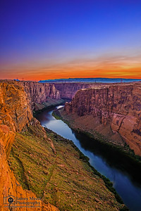 """Last One Left,"" Glen Canyon and the Colorado River at Sunset, Page, Arizona"