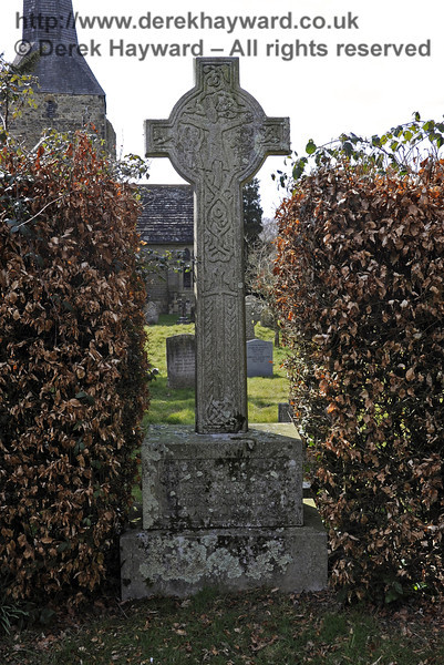 The Macmillan Family Plot, St Giles Church, Horsted Keynes.  The cross is a replica of the Macmillan Cross at Kilgerry, Argyllshire.  06.04.2013  6611