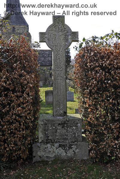 The Macmillan Family Plot, St Giles Church, Horsted Keynes.  The cross is a replica of the Macmillan Cross at Kilgerry, Argyllshire.  06.04.2013  6611