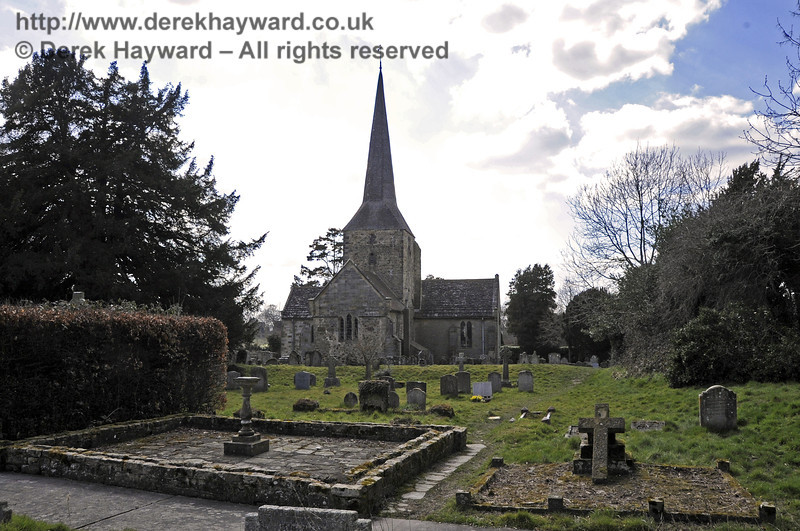St Giles Church, Horsted Keynes looking west from the churchyard.  06.04.2013  6687