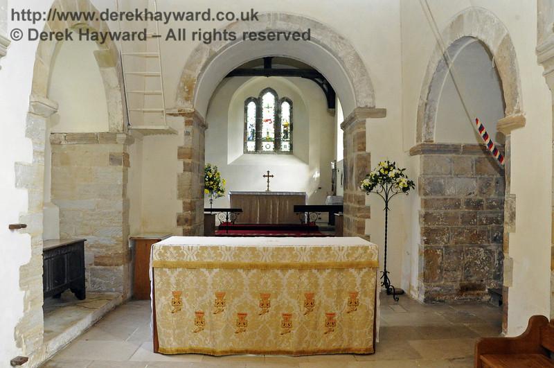 St Giles Church, Horsted Keynes, looking east towards the high altar.  06.04.2013  6634