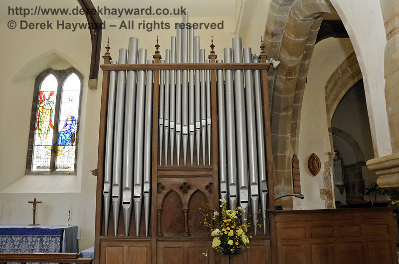 The organ of St Giles Church, Horsted Keynes, which was built by Brown of Canterbury in 1904.  06.04.2013  6632