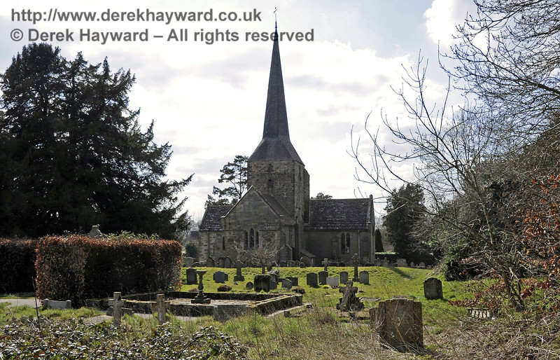 St Giles Church, Horsted Keynes looking west from the churchyard.  06.04.2013  6673