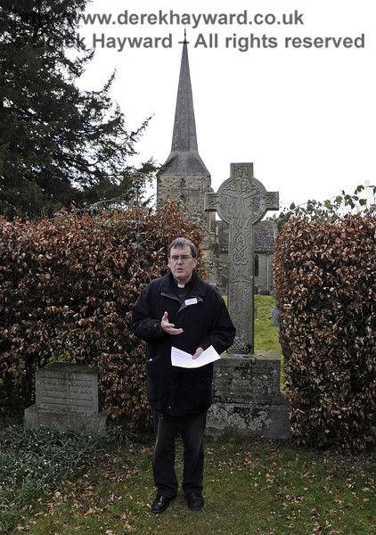 The Rector at the Macmillan Family Plot, St Giles Church, Horsted Keynes.  06.04.2013  6596