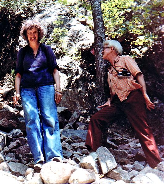 Hiking with Borsts- probably in the Adirondaks, NY.  Likely ~1980.
