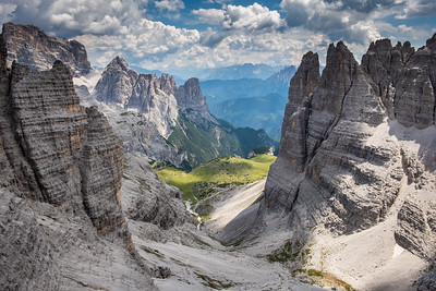 Pohled z Monte Paterna na Schusterplatte