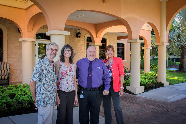 Doves Fountain Dedication, Lorraine's Birthday, Zephyrhills, Gulfside Hospice 9 10 2014