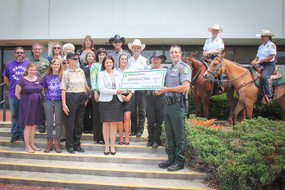 Ride for Hospice, Pasco Sheriff's Mounted Posse, Sheriff Nocco, 5 7 2014