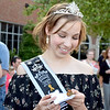 Effingham County Junior Miss Elizabeth Weidner waits for her butterfly to take off Thursday at the butterfly release. Kaitlin Cordes photo