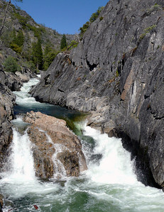 My newest addition:  Rancheria Creek sliding into Hetch Hetchy Valley in Yosemite National Park. First trip on my new hip - May 2007.