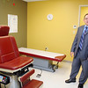 President & CEO of Community Health Connections John DeMalia talks about one of the medical examine rooms as he gives a tour of the now open Fitchburg Family Health Center. SENTINEL & ENTERPRISE/JOHN LOVE